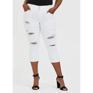 🆕Torrid Vintage Stretch White Crop Jegging Jean
